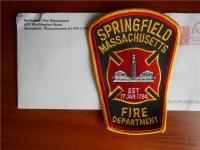 Нашивка от пожарных Springfield (MA, USA)